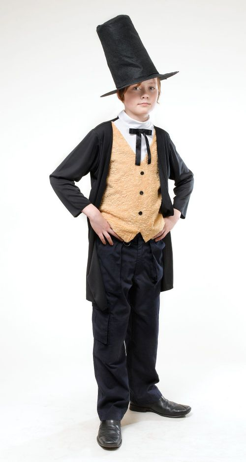 Boys Victorian Gent Costume 18th Century Dickensian Edwardian Fancy Dress Outfit